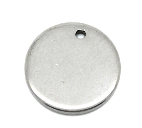 Tiny Stamping Tag Blanks, 48 Pack Stainless Steel, Round 10mm (3/8 inch) JGFinds