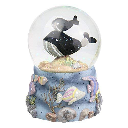 JINGB Home Whale Crystal Ball Music Box Rotating Snowflake Music Box for Children Christmas Birthday Gift Interesting Toy