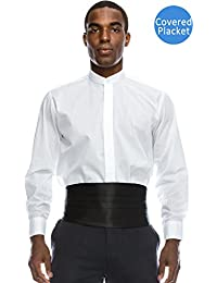 Mens Formal Tuxedo Shirts Collection w/Big Size Regular Fit