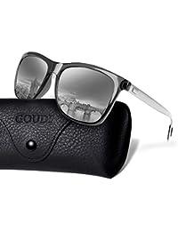 0c390a9f11c Polarized Sunglasses For Men Women-GOUDI Vintage Men Women Sunglasses Al-Mg  Metal Frame