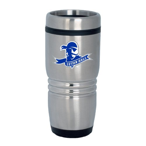Seton Hall Rolling Ridges Silver Stainless Tumbler 16oz 'Official Logo' by CollegeFanGear