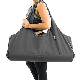 Yogiii Large Yoga Mat Bag | The Original YogiiiTotePRO | Large Yoga Mat Tote Sling Carrier with Side Pocket | Fits Most…
