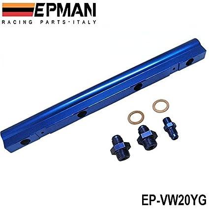 Amazon.com: EPMAN For VW Audi 20V 1.8T Turbo Aluminium Billet Top Feed Injector Fuel Rail Turbo Kit (Blue): Automotive
