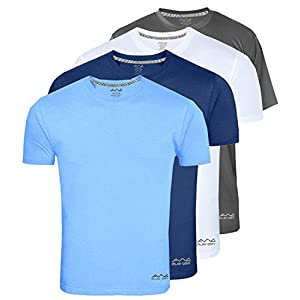AWG Men's Light Weight Dryfit Polyester Sports Round Neck t-Shirts – Pack of 4