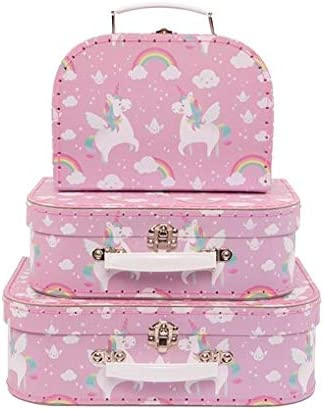 Sass & Belle Rainbow Unicorn (Set of 3) Geometrics Suitcases