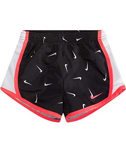 Basketball Swoosh Shorts - NIKE Children's Apparel Girls' Little Dri-FIT Tempo Shorts, Black/Pink/White, 6X