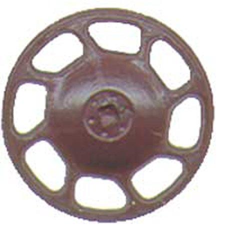 HO Brake Wheel, Universal/Boxcar Red (8) - Caboose Brake
