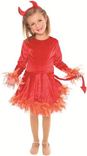 [Devil Costume Girls Medium 8-10 by Living Fiction] (Devil Costume Party City)
