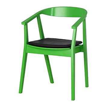 IKEA STOCKHOLM - Silla con la almohadilla de la silla, verde, marrón ...