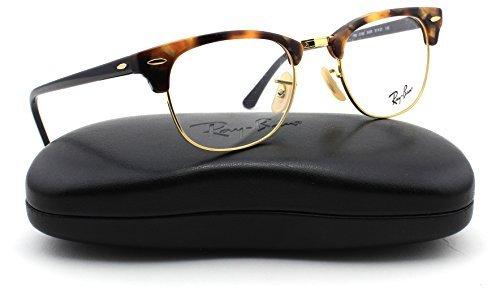 Ray-Ban RX5154 Unisex Clubmaster Eyeglasses Brown Havana Frame (Brown Havana, 49)