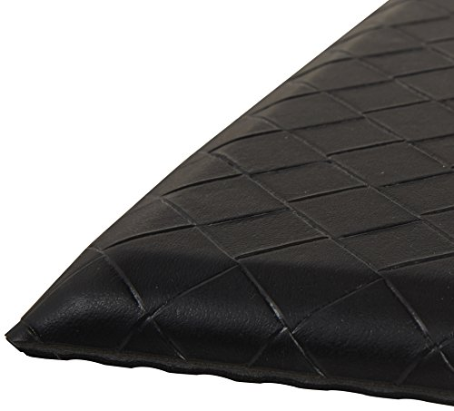 AmazonBasics Premium Anti-Fatigue Standing Comfort Mat for Home and Office, 20 x 36 Inch, Black