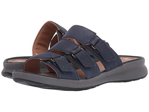 Lane Slide - CLARKS Un Adorn Lane Womens Slide Sandal Navy Nubuck 9 W