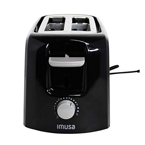 Imusa GAU-80120B Electric Basic Toaster 2 Slices 800 Watts, Black