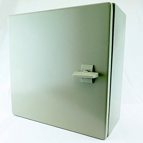 1 Outdoor Enclosure - YuCo YC-16x16x8 IP65 16 Gauge Wall-Mount Standard Indoor/Outdoor Enclosure, 16