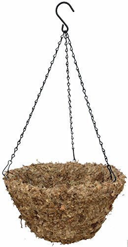 "14"" (Inside Diameter) Sphagnum Moss Hanging Basket with Chain Hanger - The Original"