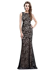 Ever-Pretty Women's Sexy Fitted Evening Dress With Open Back and Thigh High Slit 08859