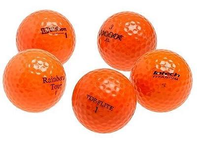 Various Brands Optic Orange Mixed Recycled Golf Balls, 48 Pack w/mesh bag
