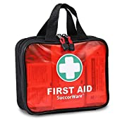 200 Pieces First Aid Kit with Hospital Grade Medical Supplies – Includes Emergency Blanket, Bandage, Scissors – Great…