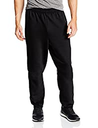 Hanes Men\'s EcoSmart Fleece Sweatpant, Black, Large (Pack of 2)