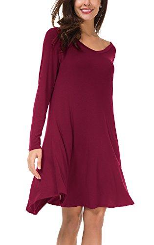 Urban CoCo Women's Swing Dress Casual Loose T-Shirt Dress