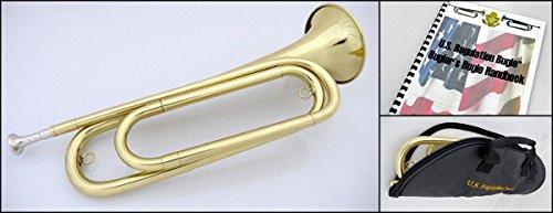 U.S. Regulation Bugle - Brass Lacquer w/Mouthpiece, Bag, and Book by U.S. Regulation Bugle