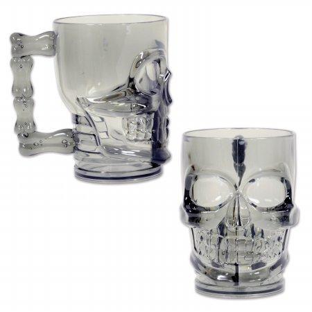 Beistle Company 57849 Plastic Skull Mug - Pack of 12