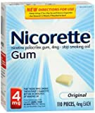 Nicorette Stop Smoking Aid 4 mg Original Gum - 110 ct, Pack of 2
