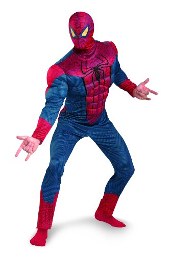 - 416PCEJPjlL - Marvel Disguise The Amazing Spider-Man 3D Movie Classic Muscle Adult Costume