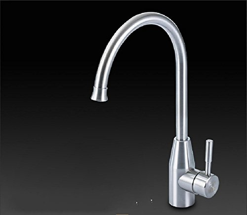Single Bullet Head Cold and Hot Bends JWLT Kitchen faucet hot and cold water tank faucet can redate 304 stainless steel single cold dish washing basin basin faucet,Hot and cold big bend faucet