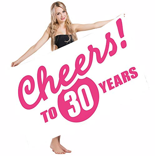 Mugod Beach Towel Bath Towels 30th Birthday Cheerful