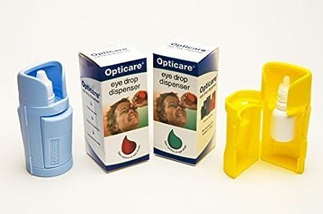 Oftálmicos-Aplicador de gotas, color azul, amarillo y naranja: Amazon.es: Salud y cuidado personal