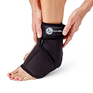 Ankle & Foot Hot / Cold Therapy Wrap Size S/M – Great for Treating Sprained Ankles, Swelling Feet, Achilles Tendinitis, and Arthritis Relief – Hot / Cold Gel Packs Included