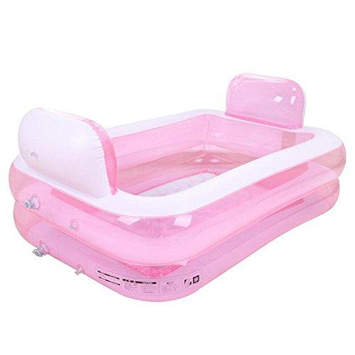 Sunhai& Plastic Inflatable Tub Folding Bath Tub Thicker Adult Tub ( Color : Pink ) by Sunhai&