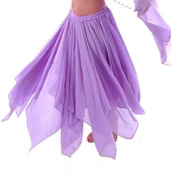 Miss Belly Dance Falda de chifón de panel de danza del vientre 13 ...