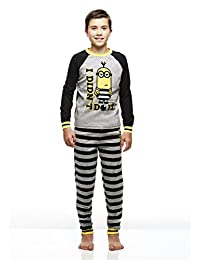 Boys 2-Piece Cotton Pajama Set, Long-Sleeve Top and Jogger Pants