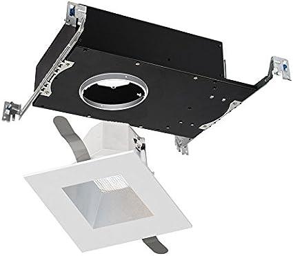 WAC Lighting R3ASDT-N835-BKWT Aether Square Trim with LED Light Engine Narrow 25 Beam 3500K Black White