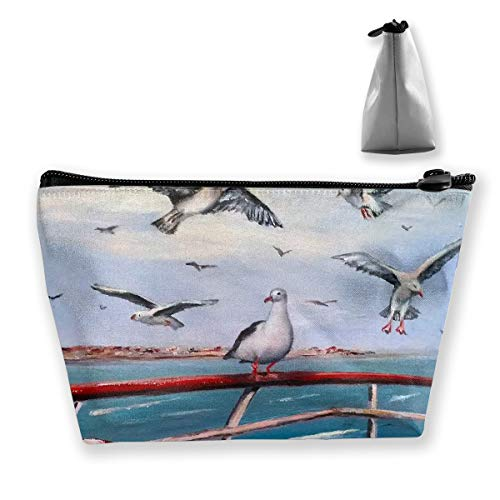 Makeup Bag Cosmetic Seagull Cheryl Lifebuoy Portable Cosmetic Bag Mobile Trapezoidal Storage Bag Travel Bags with Zipper -