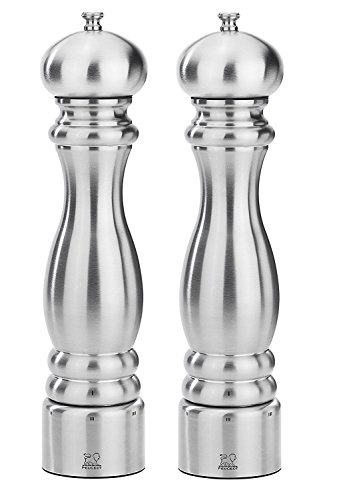 Peugeot Paris Chef u'Select Stainless Steel 30cm - 12'' Salt & Pepper Mill set by Peugeot.