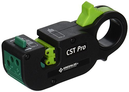 Greenlee 1280 CST Pro Coax Stripper 3 Level, Green Cassette .279/.201 by Greenlee (Best Greenlee Levels)