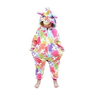 Unisex Kids Unicorn Onesie Coloful Cloud Unicorn Pajamas Animal Christmas Halloween Cosplay Costume Sleepwear(4-6 Years)