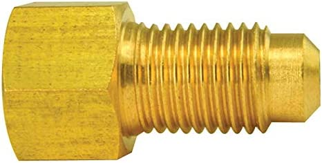 3//8-24 Inverted 1//card Male Brass Adapter 3//8-24 Bubble Female