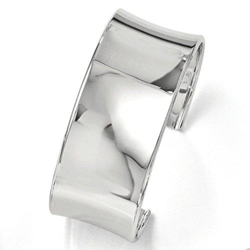 28,5 mm Argent Sterling poli Bracelet à enfiler-JewelryWeb