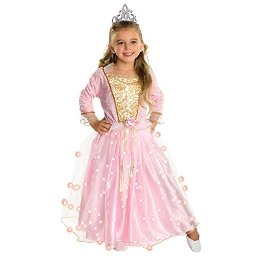 Rubie's Child's Rose Princess Costume with Fiber Optic Light Twinkle Skirt Small Pink