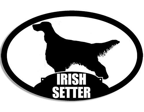 American Vinyl Oval Irish Setter Silhouette Sticker (Dog Breed)