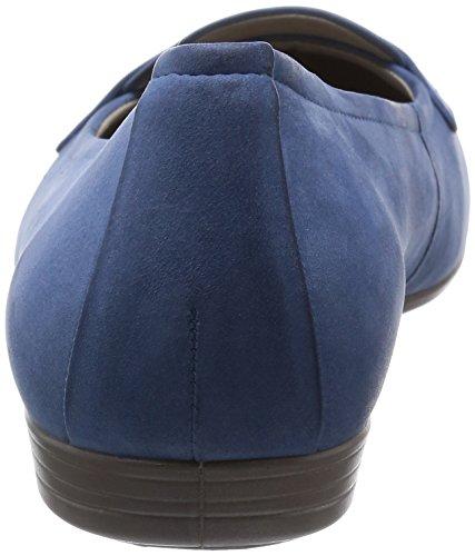Velvet02471 Ecco Retro Blue mujer cuero de Bailarinas para Touch15 Blau Azul wvqa1gwW