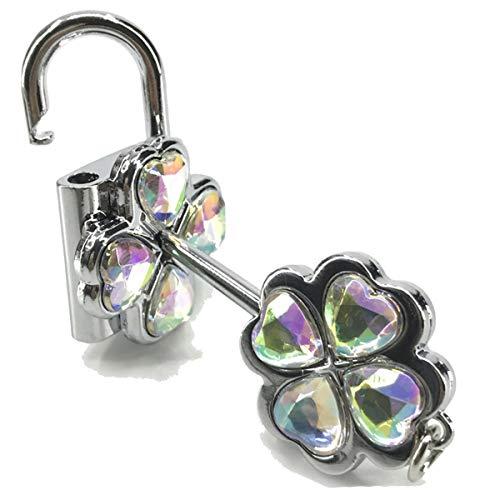 (Onlyfo Diamond Accent Shugo Chara! Hinamori AMU Key and Lock Pendant Couple Necklace Set,Shugo Chara Couple Necklace Set for Boys,Girls (Colorful,White))