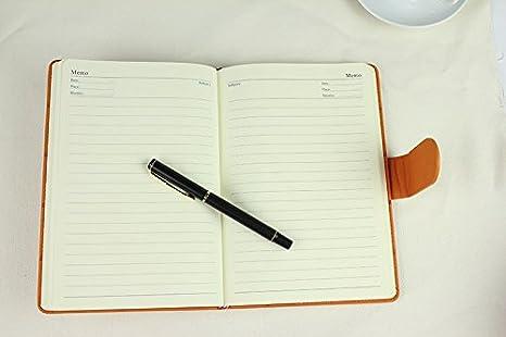 Amazon.com : Korean Stationery Leather Notebook Agenda 2015 ...
