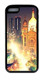 iPhone 5c case, Cute Santiago Iglesia Del Sacramento Noche iPhone 5c Cover, iPhone 5c Cases, Soft Black iPhone 5c Covers