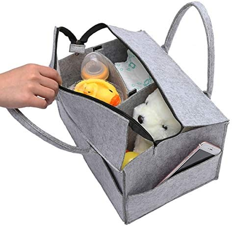 Moligh doll with Lid Storage Bag Foldable Baby Diaper Caddy Organiser Gift Kid Toys Portable Bag Box for Car Travel Changing Table Organizer