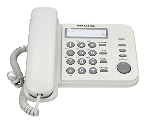 Panasonic KX-TS520 - Telé fono (Telé fono DECT, Negro) KX-TS520FXB